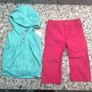 🎉 5/$15 Carter's Pants and Vest